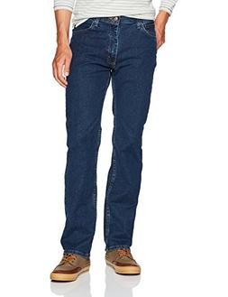 Wrangler Men's Regular Fit Comfort Flex Waist Jean, Dark S