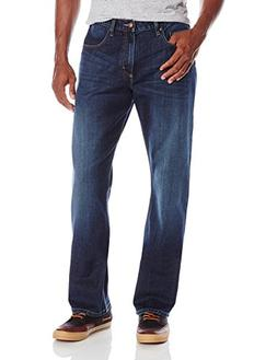 Wrangler Men's Authentics Premium Relaxed Straight Jean, Dar