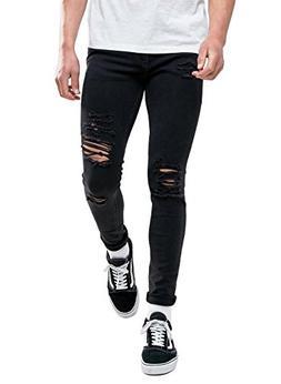 Sarriben Men's Stretch Fashion Skinny Slim Fit Jeans Ripped