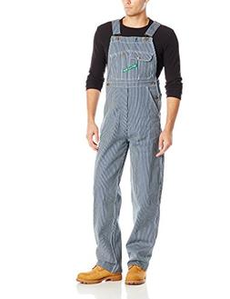 Key Apparel Men's High Back Bib Overall, Hickory Stripe, 32x