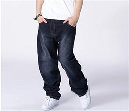 Madehappy Large Size Baggy Men Jeans Long Skateboard Loose C