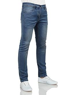 IDARBI Mens Basic Casual Color Skinny Cotton Twill Pants WAS