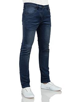 IDARBI Mens Basic Casual Color Skinny Cotton Twill Pants DAR