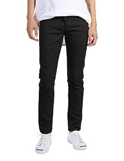 JD Apparel Men's Basic Casual Colored Skinny Fit Twill Jeans