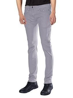 Seven Souls Mens Basic Casual Color Skinny Stretch Cotton Tw