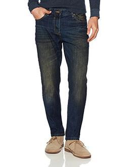 Southpole Men's Basic Universal Slim Straight Fit Denim, Dar