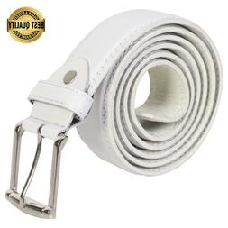 Leatherboss Genuine Leather Men Casual Jeans Belt, White