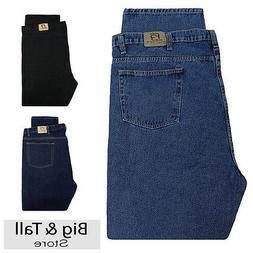 Big & Tall Men's Denim Jeans Fixed Waist 44 - 66 Relaxed Fit