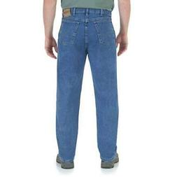 Wrangler Big and Tall Mens Relaxed Fit STRETCH Jeans - Stone