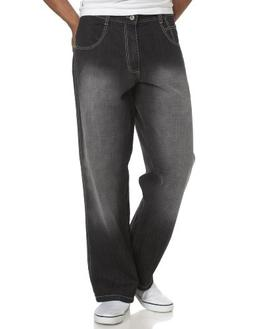 Southpole Men's Relaxed Fit Core Denim, Black Sand, 42X34