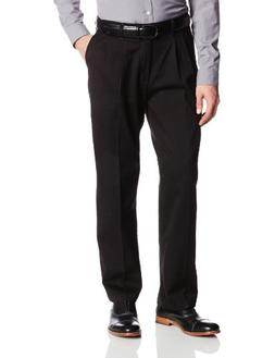 Lee Men's Big-Tall Comfort Waist Custom Fit Pleated Pant, Bl