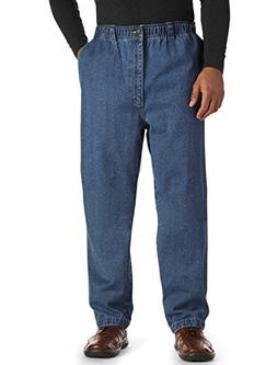 Harbor Bay by DXL Big and Tall Full Elastic Waist Jeans