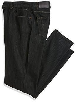 50bed0190d Perry Ellis Men s Big and Tall Rinse with Black Tint Five Pocket Denim