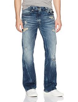 True Religion Men's Billy Boot Cut Jean with Flap Back Pocke