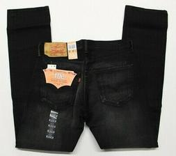 Levi's Men's New 501 32X34 Black Jeans Original Fit Straight