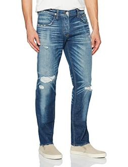 Hudson Jeans Men's Blake Slim Straight Jeans, Aim, 33