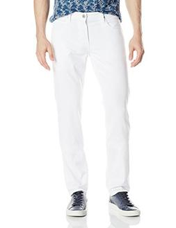Hudson Jeans Men's Blake Slim Straight Jean in White, 38