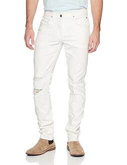 Hudson Jeans Men's Blake Slim Straight Jeans, Caution, 34