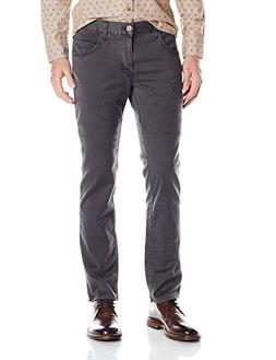 Hudson Jeans Men's Blake Slim Straight Twill Pant, Dark Grey