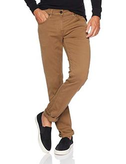 Hudson Jeans Men's Blake Slim Straight Zip Fly Twill, Sienna
