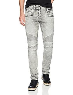 Hudson Jeans Men's The Blinder Biker Jean, Carbon Fiber, 38