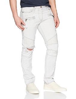 Hudson Jeans Men's The Blinder Biker Jean, Extracted White,