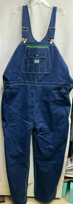 LIBERTY Blue RIGID DENIM BIB OVERALLS Jeans Men's Sz 54 x 34