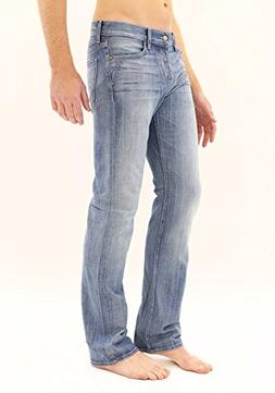 7 For All Mankind New Blue Ivory Coast Straight Leg Button F