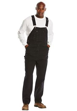 Liberty Blues Men's Big & Tall Denim Overalls, Black Big-663