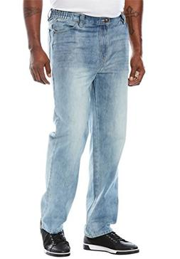 Liberty Blues Men's Big & Tall Relaxed Fit Side Elastic 5-Po