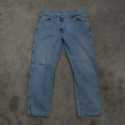 Wrangler Blues Men's 36x30 Distressed Regular Fit Cotton Jea