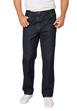 Liberty Blues Men's Big & Tall Loose Fit 5-Pocket Stretch Je