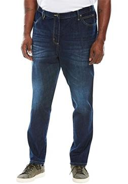 Liberty Blues Men's Big & Tall Relaxed Tapered Fit Side Elas