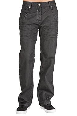 Level 7 Men's Boot Cut Premium Coating Whisker Black Denim J