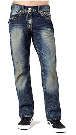 True Religion Men's Bootcut Relaxed Fit w/Flap Big T Jeans i