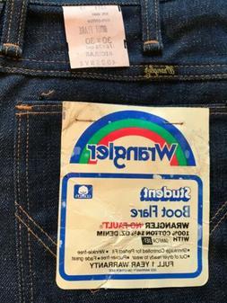 Wrangler boys blue jeans boot cut flare Cotton Denim 30x30 V