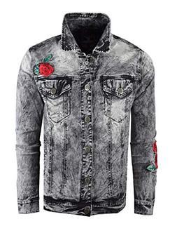 SCREENSHOTBRAND-J51881 Men's Premium Distressed Denim Jacket
