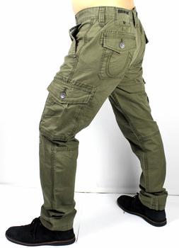 True Religion Brand Jeans Men's Olive Modern Cargo Pants - M