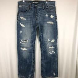 Buckle BKE Men's Jeans Carter Size 36R 36x30 Distressed Medi