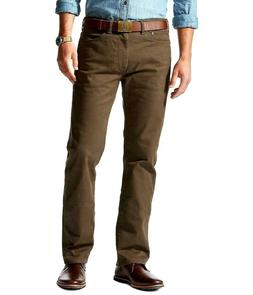 Dockers by Levis Jeans Pants Brown Mens 32 x 32 Stretch Stra