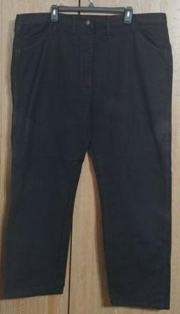 Rustler By Wrangler Men's 44x30 Regular Fit Straight Leg Bla
