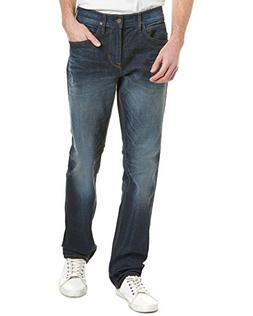 Hudson Jeans Mens Byron Dark Wash Straight Leg, 33, Blue
