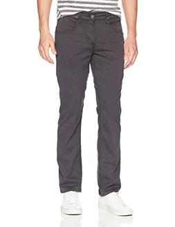 Hudson Jeans Men's Byron Straight Zip Fly Twill, Metal, 36