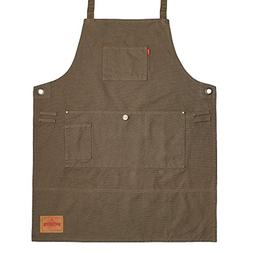 VANTOO Canvas Tool Apron 3 Pockets- Artist Painting Shop Kit