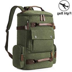 Yousu Canvas Backpack for Men, Man Vintage Travel Duffel Bac