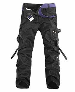 Dapengzhu New Men's Cargo Pants Casual Army Green Big Pocket