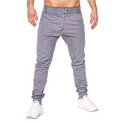 WUAI Men's Casual Original Mountain Slim Fit Bandage Sweatpa