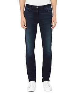 Calvin Klein Men's Skinny Fit Jeans, Boston Blue/Black, 33W
