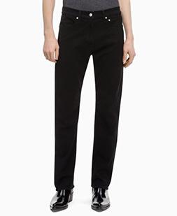 Calvin Klein Men's CKJ 035 Straight Fit Jeans, forever black