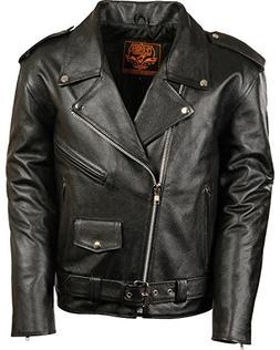 Milwaukee Leather Men's Classic Police Style M/C Jacket Blac